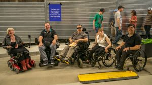 members of Dignity Party in the tunnel - O-Bahn accessibility